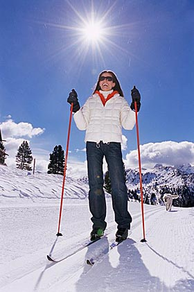 Как надо кататься на лыжах?