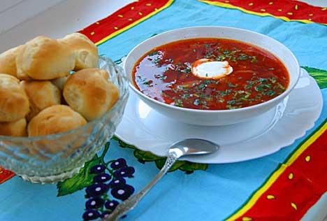 борщ по украинский рецепт с пампушками