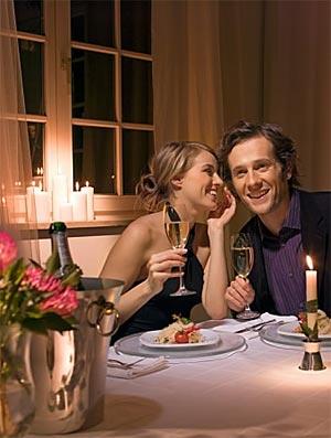 романтический ужин под новый год