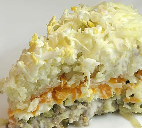 Идеи оформления салатов и закусок - 2.