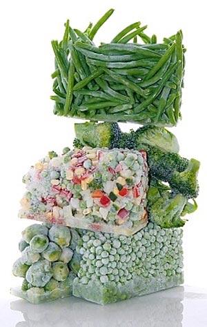 содержание витаминов в замороженных овощах и фруктах