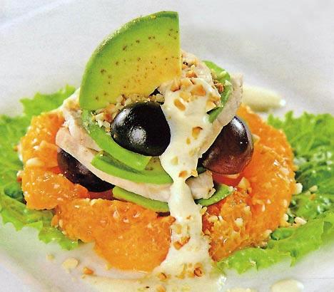 новогодний салат из авокадо